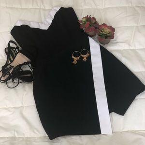 Bebe black and white mini dress size 6